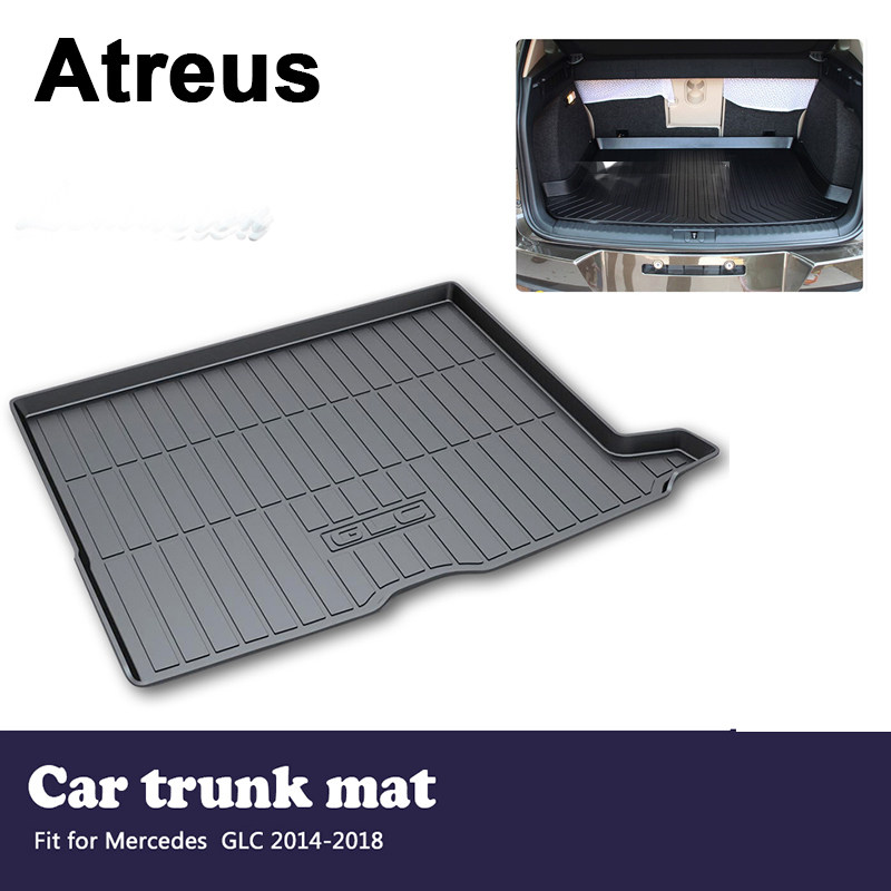 Atreus Car Trunk Cargo Floor Liner Tray Mat Cover Protection Blanket For Mercedes GLC X253 2014 2015 2016 2017 2018 Accessories