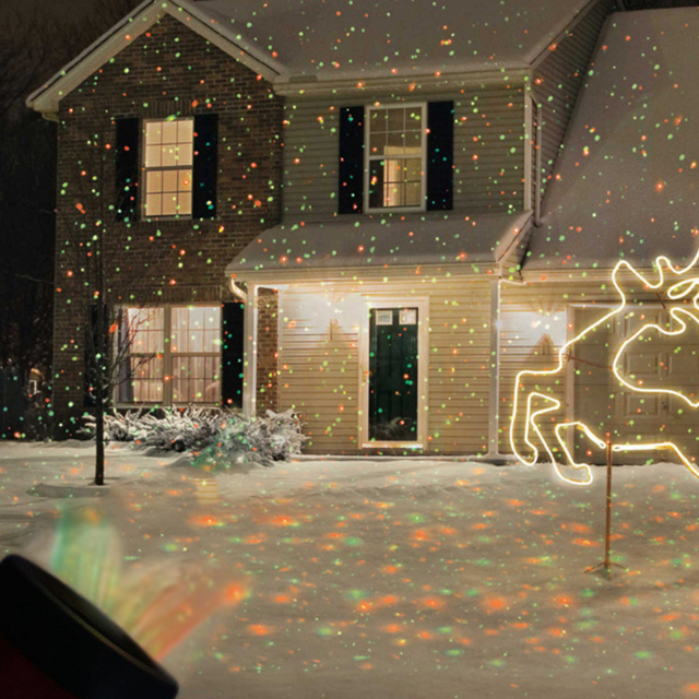 christmas lights outdoor lawn light sky star laser spotlight light shower landscape park garden light christmas