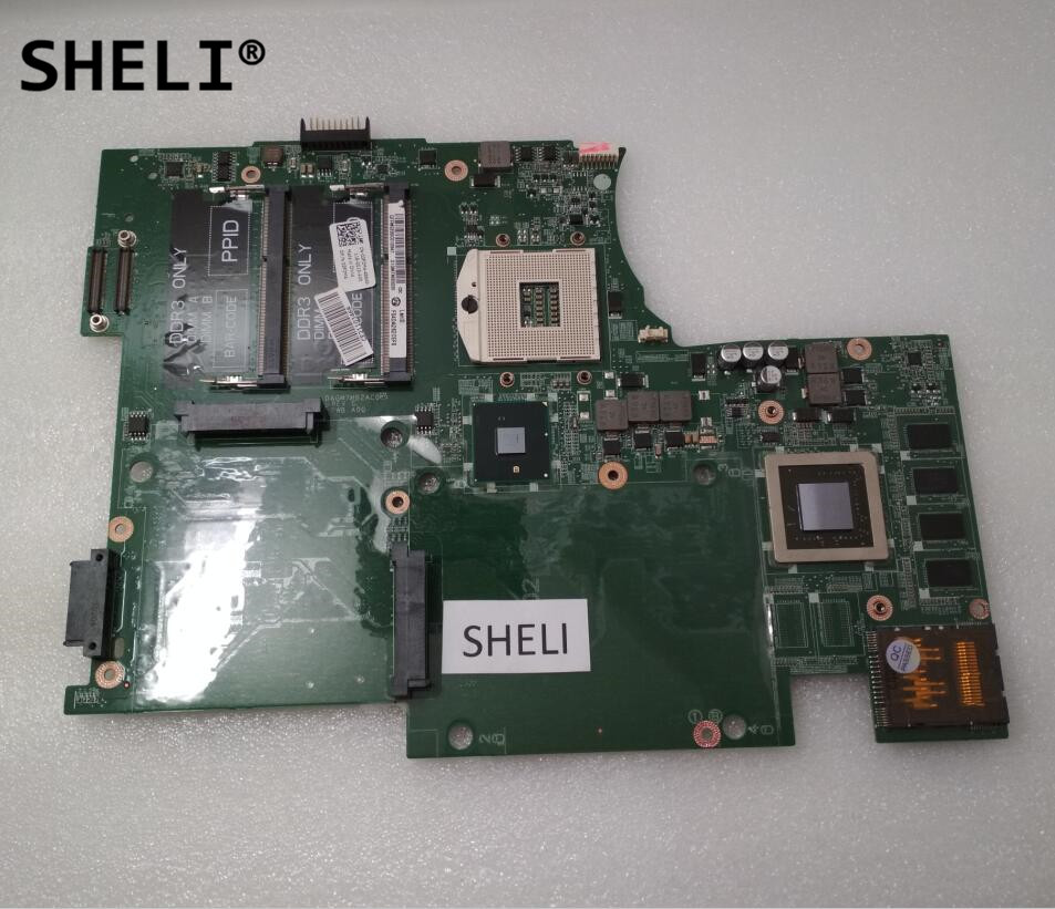 SHELI For Dell 17 L701X Motherboard 1GB DAGM7MB2AC0 CN-03P2M4 03P2M4 3P2M4 sheli for dell 1645 motherboard with hd 4670 1gb da0rm5mb8e0 cn 0y507r 0y507r y507r