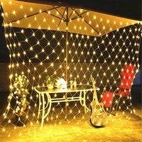 F5 96/190/672 diod led 8 tryby do flashowania siatka świetlna led kryty łańcuchy świetlne Party boże narodzenie boże narodzenie ślub dekoracja do przydomowego ogrodu w Girlandy świetlne od Lampy i oświetlenie na