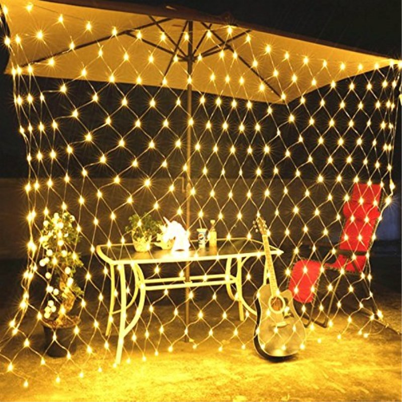 F5 96/190/672 Leds 8 Modes For Flashing  LED Net Lights Indoor String Lights Party Christmas Xmas Wedding Home Garden Decoration