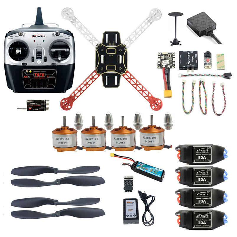 DIY Unassemble 2.4G 8CH 330mm Mini RC Drone FPV Quadcopter With Radiolink Mini PIX M8N GPS Altitude Hold Model jjr c jjrc h43wh h43 selfie elfie wifi fpv with hd camera altitude hold headless mode foldable arm rc quadcopter drone h37 mini