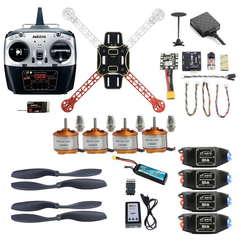 DIY Unassemble 2.4G 8CH 330mm Mini RC Drone FPV Quadcopter With Radiolink Mini PIX M8N GPS Altitude Hold Model