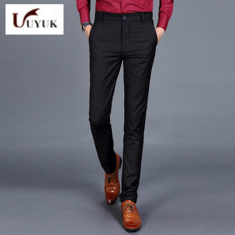 Brand Fashion new thin Slim Fit Polyester Black Cotton ...