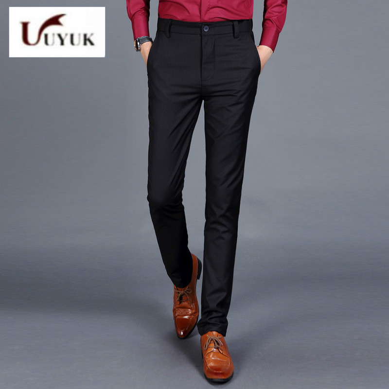 uyuk Brand Fashion new Mens Business Formal Suit Pants Slim Fit ...