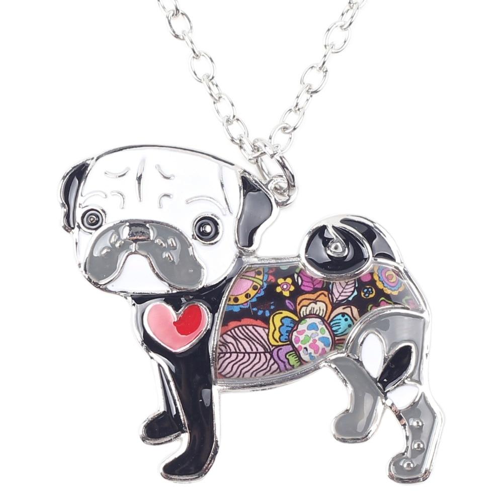 Pug Nose Dog - Fashion Jewelry Enamel Necklace 3