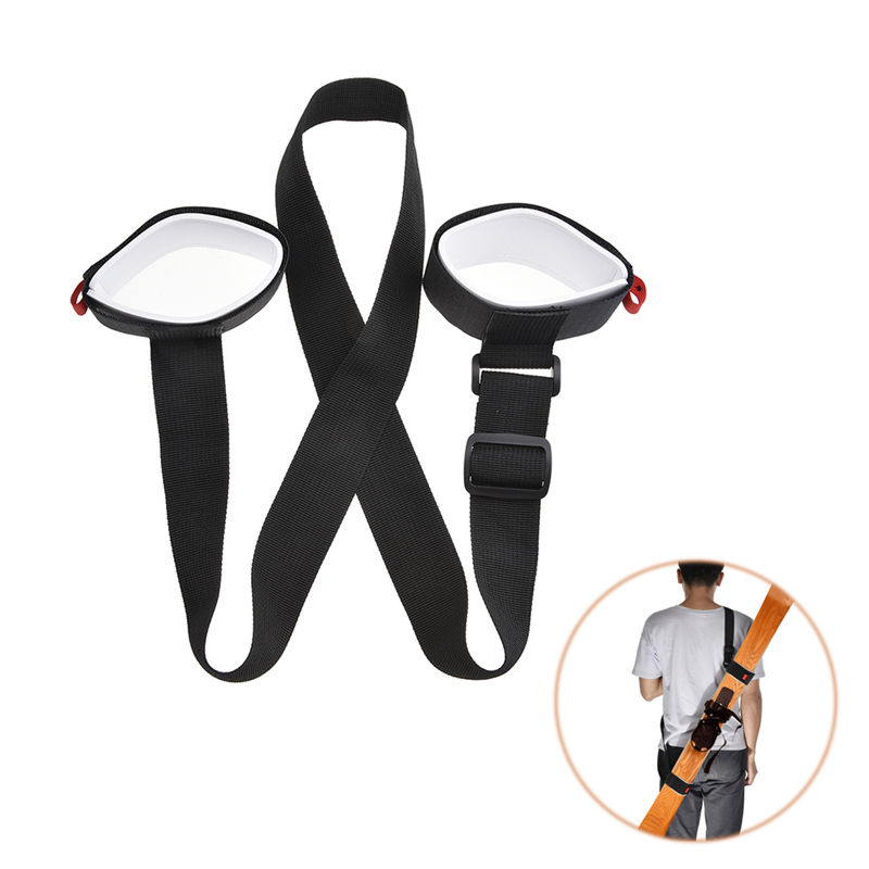 Ski Cross Country Mountain Skiing Snowboard Backpack Snow Board Ski Holder Carrier Strap
