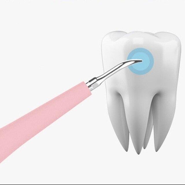 Elettrico portatile di Sonic Scaler Dentale Dente Strumento Dentista Tartaro Tartaro Remover Le Macchie Dei Denti Sbiancare I Denti Salute E Igiene bianco 2
