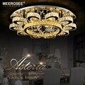 Роскошные хрустальные люстры в форме цветка  осветительные приборы  круглые люстры для гостиной  отеля  светодиодные лампы  смонтированные