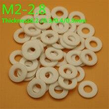 где купить 100pcs PTFE washer gasket M2-2.8 high temperature  teflon washer Thickness 0.2/0.3mm по лучшей цене