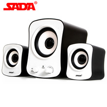 SADA D-200C Multifunction Mini Surround Subwoofer Stereo Heavy Bass USB PC Speaker Computer Phone Speakers for Laptop Notebook