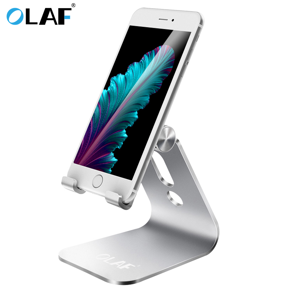 OLAF Aluminium Alloy Desktop Mobile <font><b>Phone</b></font> Holder Hand Free <font><b>Desk</b></font> <font><b>Stand</b></font> <font><b>Cell</b></font> <font><b>Phone</b></font> Mount <font><b>For</b></font> iPhone 6 7plus iPad <font><b>For</b></font> Samsung Note8