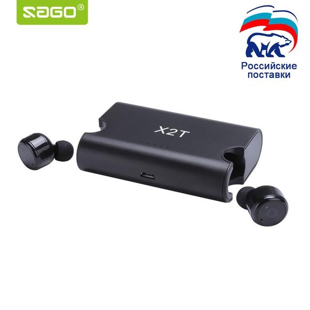 Саго X1T/X2T беспроводные наушники mini Функция шумоподавления наушники bluetooth гарнитура с 1500 мАч power bank коробка для iphone 8/android