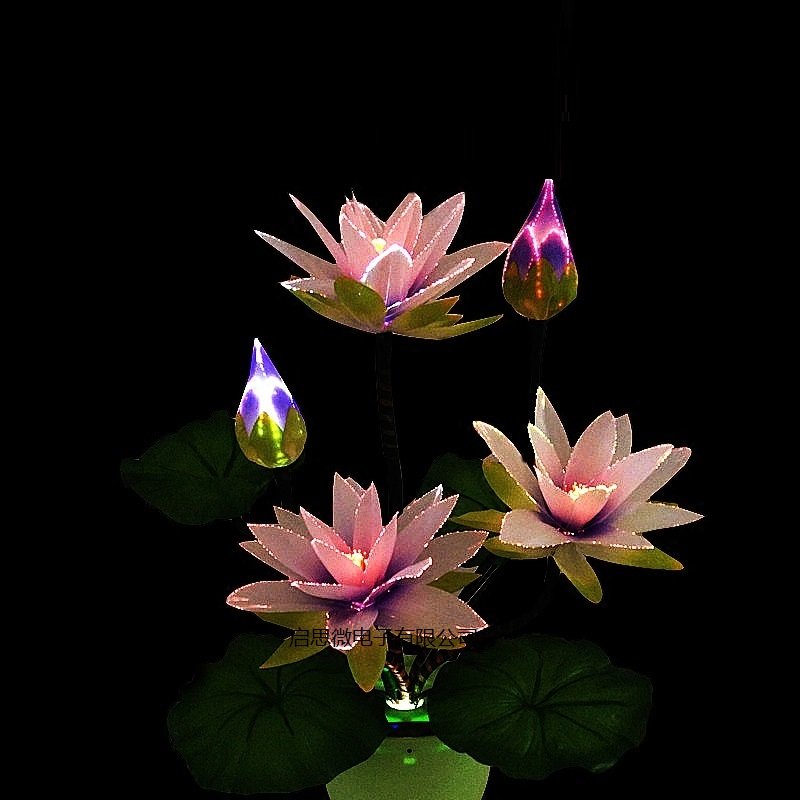 2018 Newest LED Colorful Transformation Artificial Lotus Flower Wedding Decoration Optical Fiber Flower Christmas New Year Party