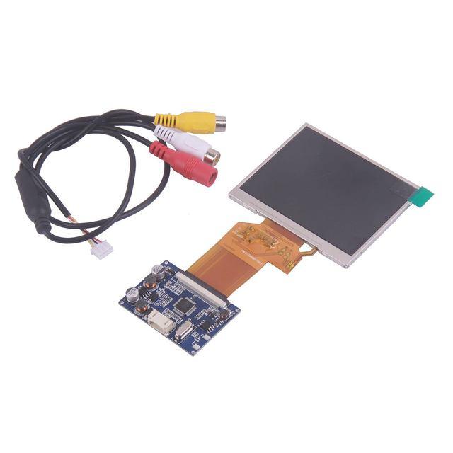 3.5 Pollici TFT LCD 320*240 Modulo Display DC12V Bordo di Driver Due Canali di Ingresso Video