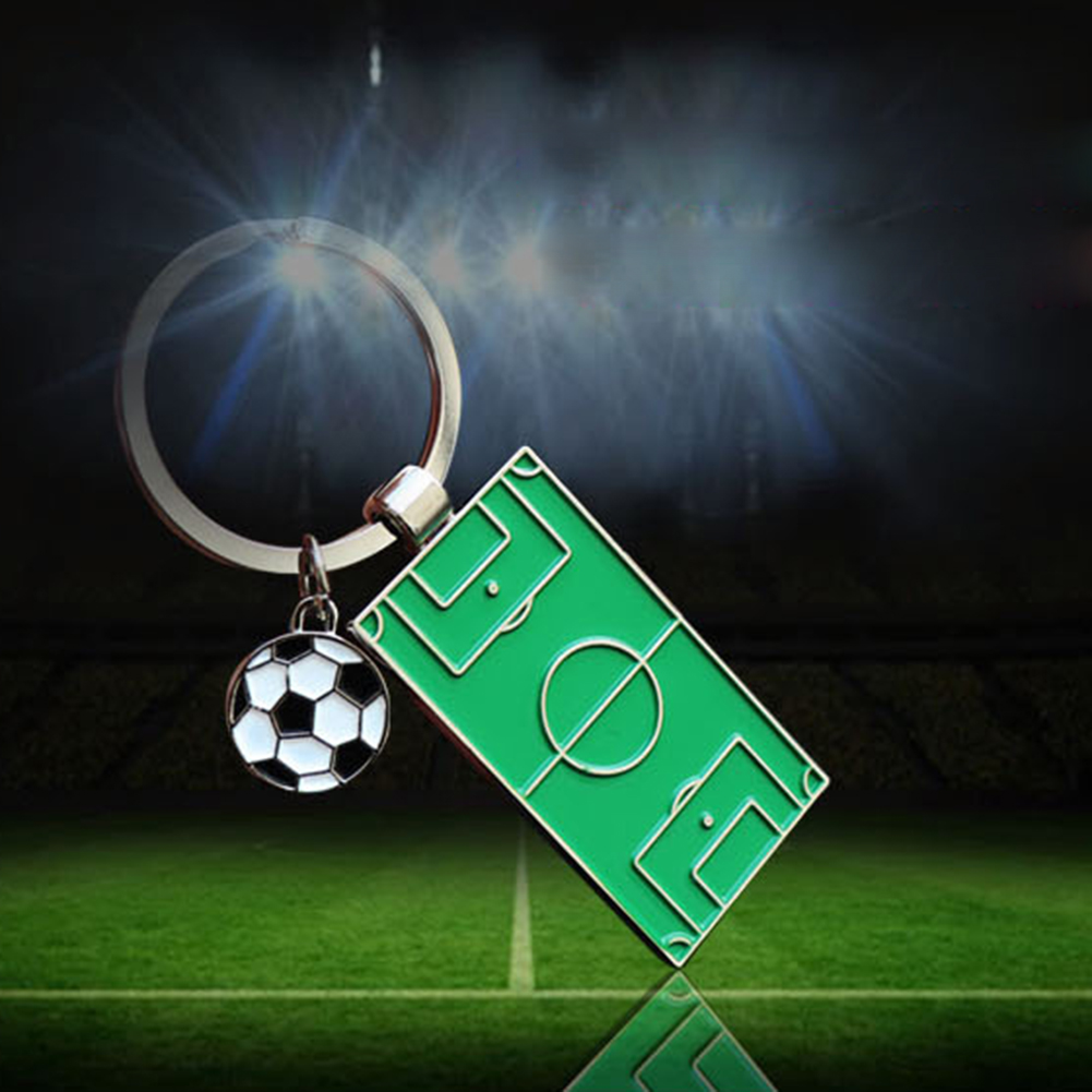 New World Soccers Holder Ornament Ring Football Aluminum Alloy Field New Soccer Personality Futbol Fans Gift