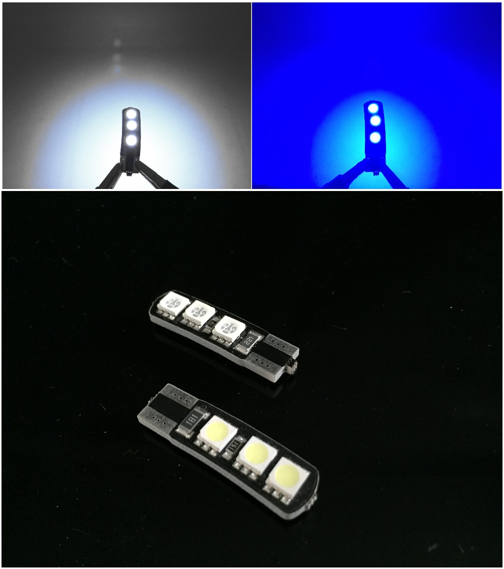 ⊱100 unids/lote brillante doble no error t10 led 194 168 w5w CANbus ...