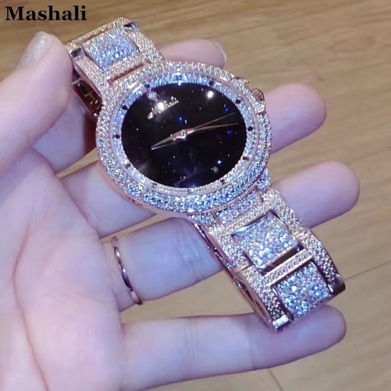 New style Mashali Watch Fashion Women Original Brand Suisse Luxury Bracelet Watches Rose Glod Clock Ladies