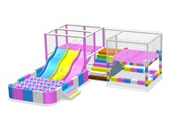 ball pool with slide game Balloon House with maze 3 Slides and Ball Pool set Big Magic Baloon Zone YLW INA1886A
