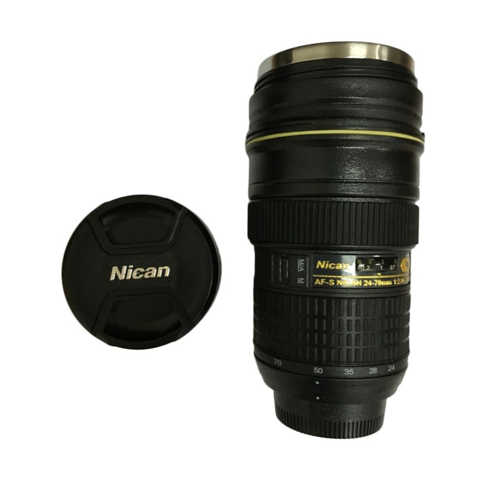 Photography Zoomable Zoom Lens 1:1 AF-S 24-70mm f/2.8 Coffee Cup Mug F Camera Lens Shape Cup Black matt ceramic lens cup black 310ml