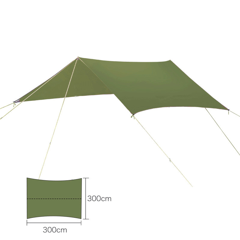 Outdoor Portable Ultralight Hammock Hanging Tent Wear Resisting Large Awning Multi Function Mat Folding UV Proof