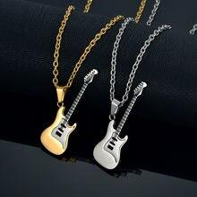 Шейная цепочка ожерелья «гитара» и подвески для женщин/мужчин