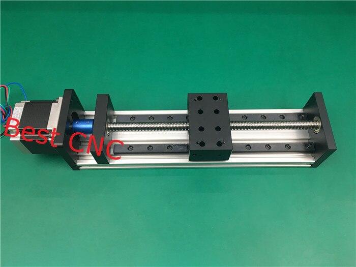 Cnc de haute précision GX 80*50 1204 Vis À Billes Table Coulissante course effective 100mm + 1 pc nema 23 moteur pas à pas axe linéaire motion