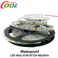 LED Strip 5730 Waterproof DC12V 60LED/m 5m/lot 5730 LED Strip Bright Than 5630 5050 LED Strip.