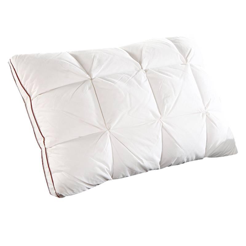 Au-delà du nuage 48*74 cm conception de marque 3D pain blanc canard/duvet d'oie plume oreiller Standard antibactérien élégant Textile à la maison 044