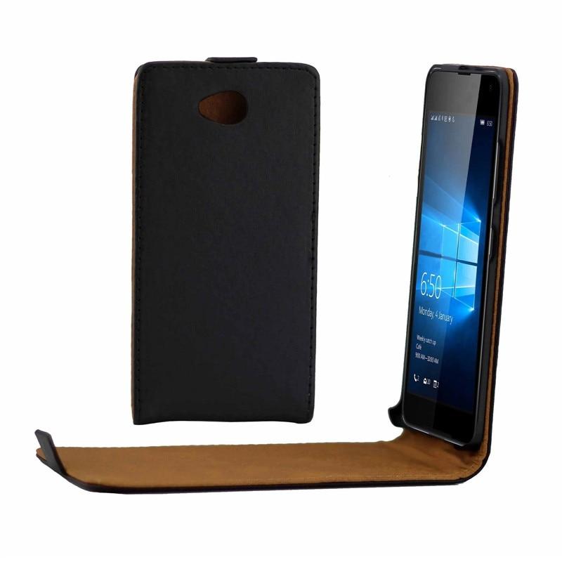 Vertikální PU kožené flip pouzdro Fundas Capa pro Microsoft Nokia Lumia 650 Cover TPU případ Up-Down Otevřený kožený pouzdro