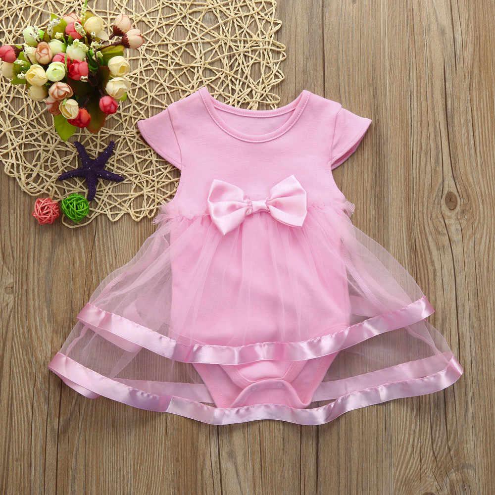 Bebek kolsuz yay baskı prenses elbise yaz çocuk giyim patlama 2020 yeni yay giysileri bebek kız elbise # YL1