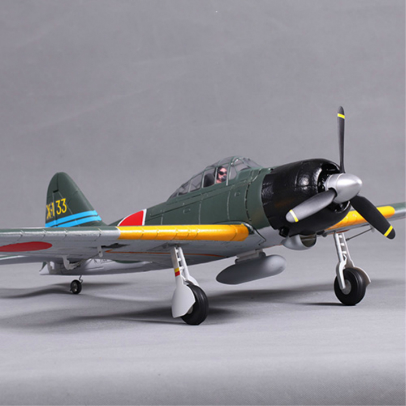 FMS 800mm Mini Zero Fighter A6M3 V2 Green 4CH 2S EPO PNP RC Airplane Small Warbird Hobby Model Plane Aircraft Avion Freeshipping