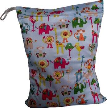 20 pcs/lot PUL Waterproof Wet Bags,Best One Zipper Diaper Bag,Reusable Diaper Bags