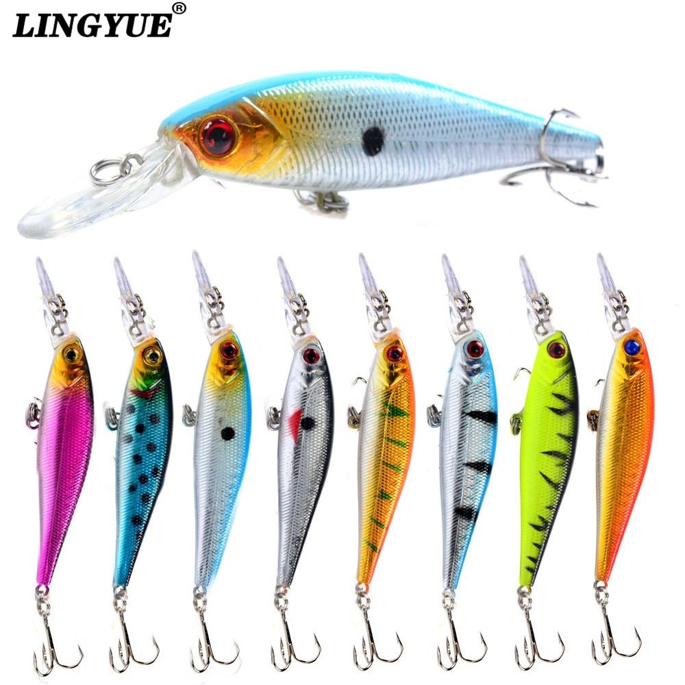 5Pcs//Lot Fishing Lures Laser Minnow 9cm//6.6g Plastic Bass Hard Baits Fish Tackle