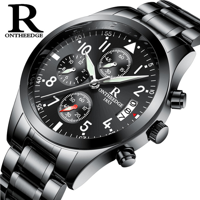 US $21.23 41% OFF| : Buy Reloj Hombre Top Brand Quartz Watch Man Waterproof Stainless Steel Men Watch Relojes Hombre Fashion Business