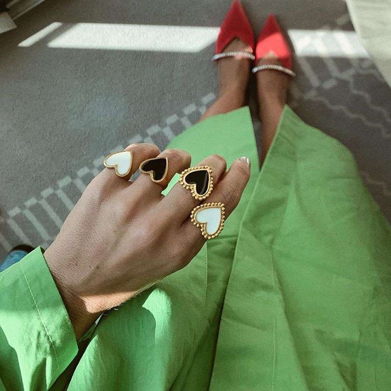 19 New Arrivals Must Have Vintage Gold Color Red Heart Rings For Women Minimalist Party Knuckle Rings Size 7 3
