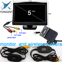 2 Ways Video Input 5 Inch TFT Display 800x480 Definition Digital Panel Color Car Parking Monitor For Rear view Camera side view