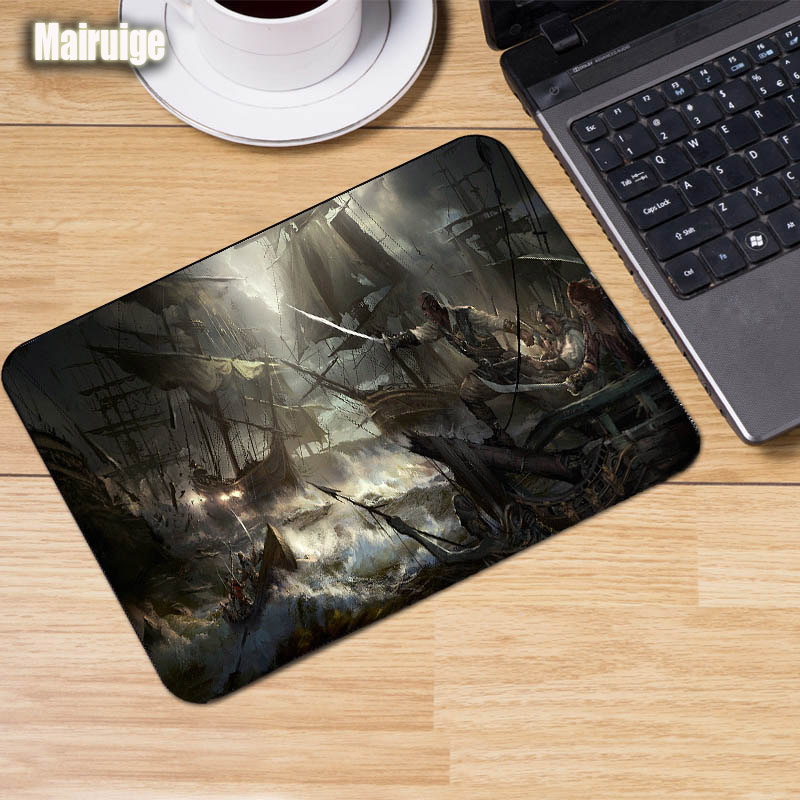 Mairuige Pirate Style Pirate Ship Pattern Mouse Pad Gaming Mousepad Game Mouse Pc Laptop Keyboard Mice Mat Rubber Anti-skid Pad