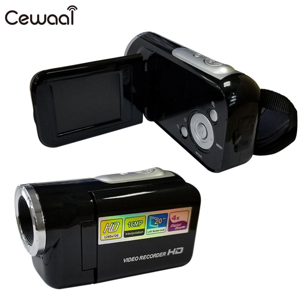 Cewaal 4X Zoom FULL HD Camera 2''LCD 1.6MP Video Camera 1080P Handheld Digital Camera Professional Camcorder Photography Black image