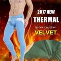 Inferior de los hombres caliente calzoncillos largos legging pantalones pantalones pantalones calzoncillos ropa interior térmica de espesor de terciopelo invierno legging moda