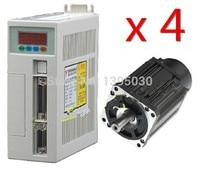 4 Sets High Quality 60ST M01930 AC Servo Motor 1.91N.M 600W 3000RPM 60ST with Driver System 60ST M01930
