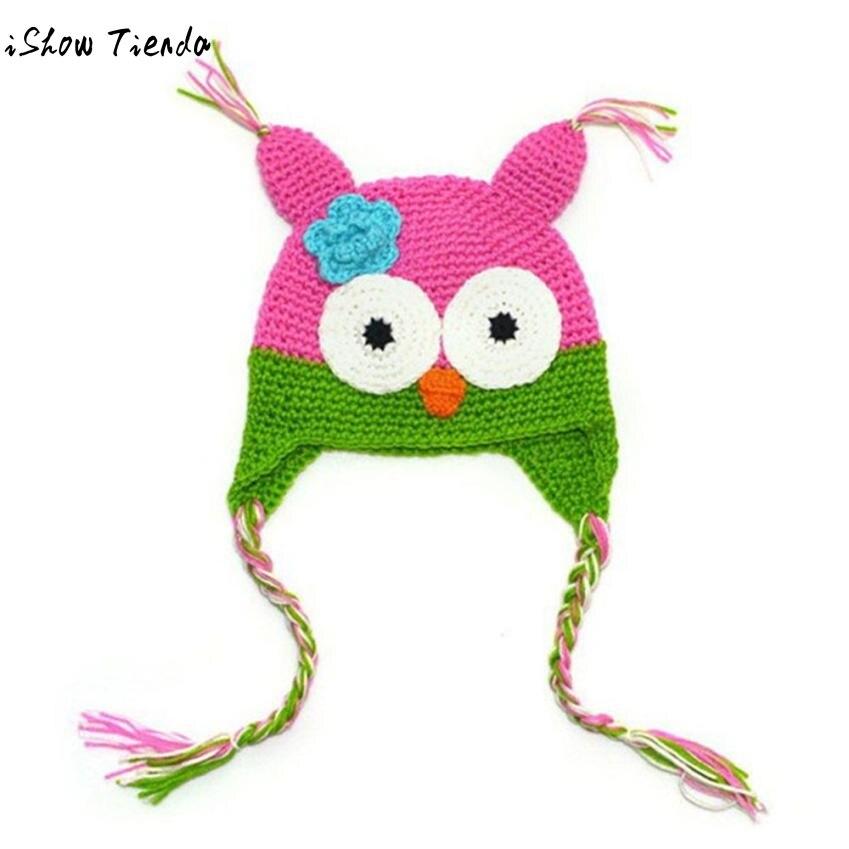 Aliexpress.com: Comprar Bebé sombrero lindo patrón de búho de punto ...