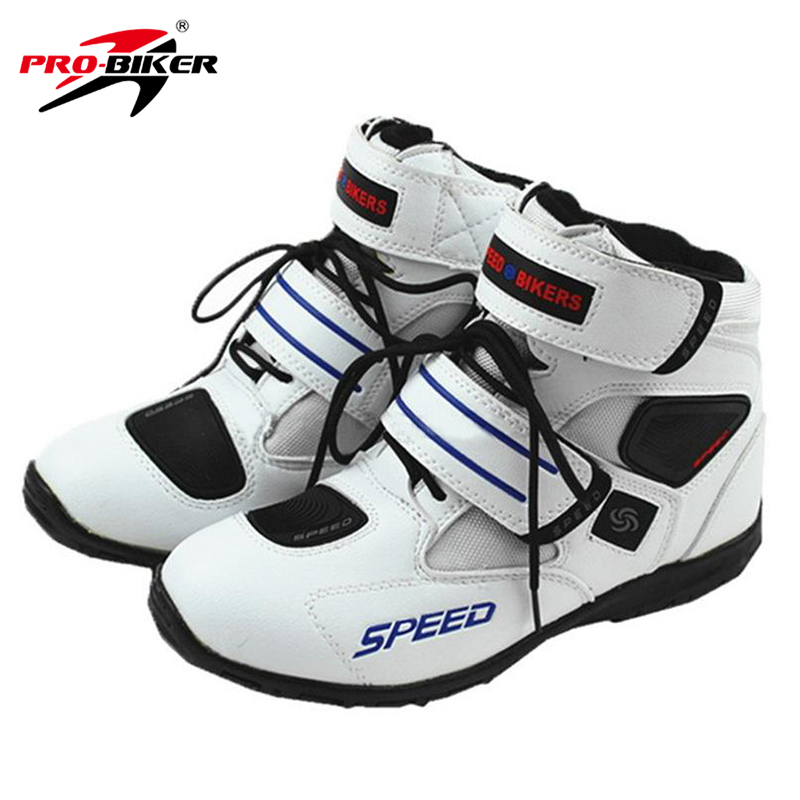 PRO-BIKER Motorcycle Boots Motorcycle Riding Boots Men Leather Non - slip Short Motor Boots Moto Shoes Motorbike Shoes A005 ...