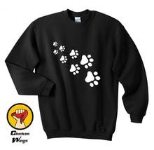 Cat Paws Shirt Graphic Men Women Cute Kitten Print Lovely Sweatshirt Unisex More Colors XS - 2XL