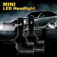 SUKIOTO 2PCS Mini LED car headlamp Bulb 9005 9012 HIR2 H7 H8/HB3 H9/HB4 H11 H16 5202/PSX24W/P13W/PSX26W 6000k 5200lm 12V 35W LED
