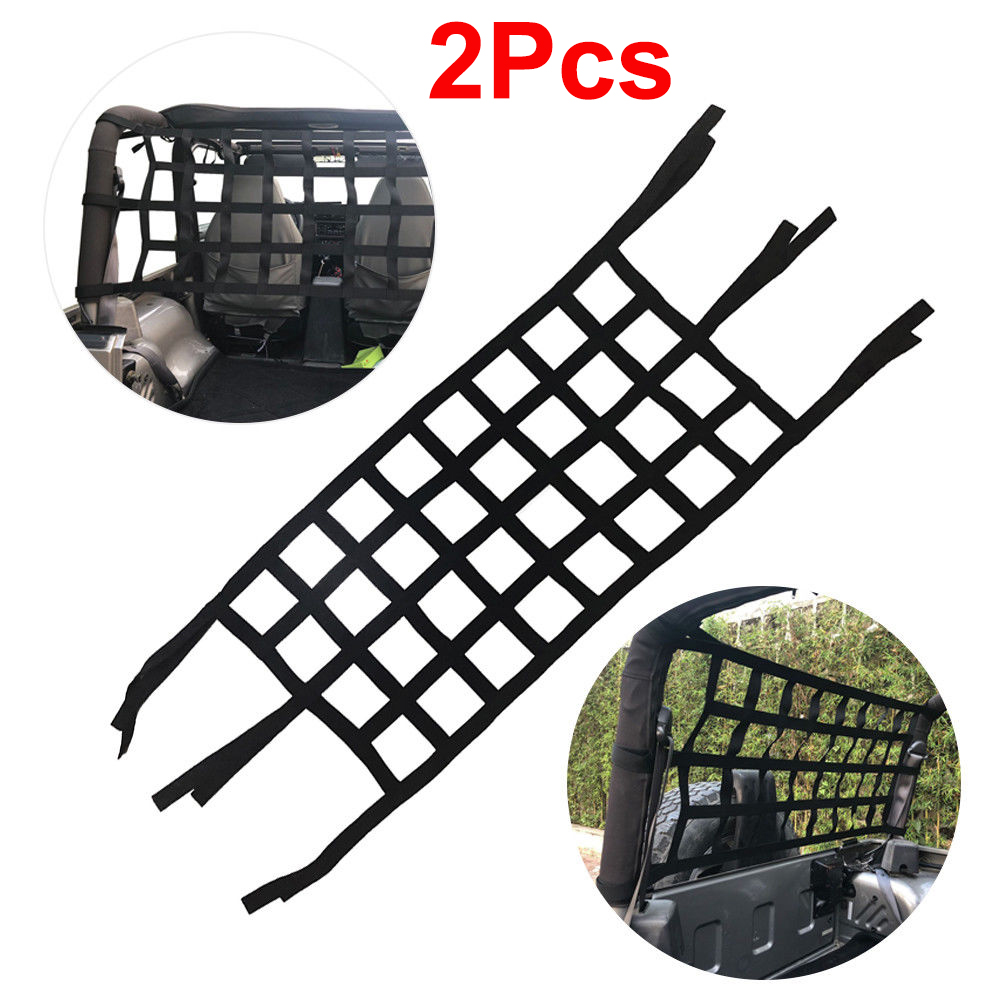 Car Covers 2pcs Heavy Duty Cargo Net For Jeep Wrangler Tj Jk Jl 97-18 Multifunctional Car Top Roof Storage Hammock Bed Rest Network Cover Automobiles & Motorcycles