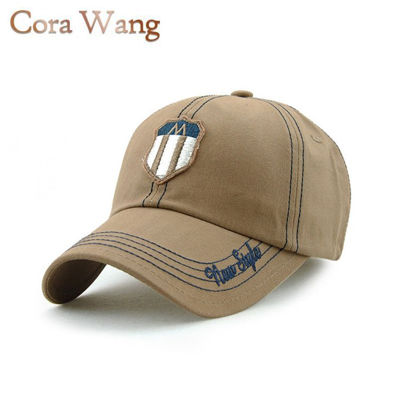 Cora Wang New Simple Letters Embroidery patch Baseball Caps for men Summer Dad Hats women Cotton beret homme boinas para hombres brand kenmont new summer hats for women 100