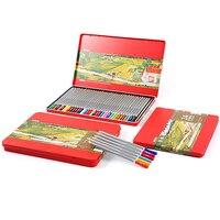 M & G Briefpapier school zeshoekige wateroplosbare 24/36/48 kleur potlood tin box lapices de colores faber castell AWPQ1902