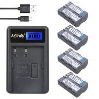 4x bateria EN-EL3A EN-EL3E EN EL3E ENEL3E EL3A battery + USB LCD caricabatteria per nikon d300s d300 d100 d200 d700 d70s d80 d90 d50