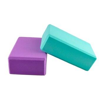 Bloques de Yoga EVA de alta densidad, bloques de espuma para hacer ejercicio en el hogar, Yoga, bloques Fitness 7,6*15*22,5, rosa, púrpura, azul, verde, naranja, 0,12 kg